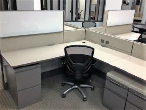 Cubicle with Chair Closeup