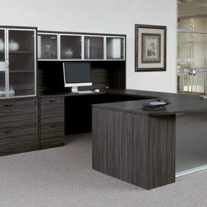 Espresso Veneer Executive Desk Set
