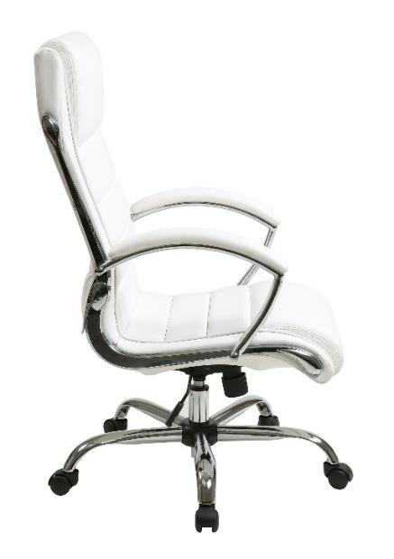 Worksmart High-Back Leather Conference Chair - White