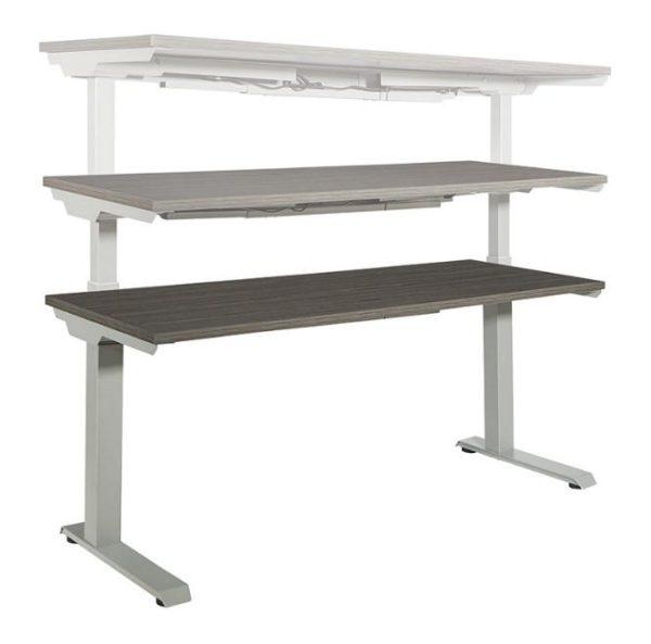 Electric Height Adjustable Desk Rectangular Titanium